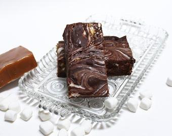 GooeyMess Chocolate Caramel Marshmallow Fudge, 1 1/2 pounds