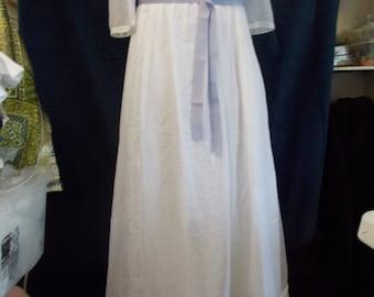 Regency style muslin gown  Custom Made to order.