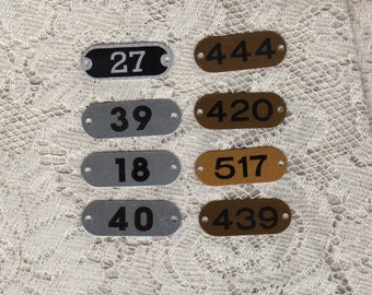 Locker Number Tags Metal 8 tags