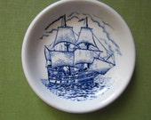 Adams English Ironstone - Small Mayflower Pin Dish - Member of Wedgewood Group