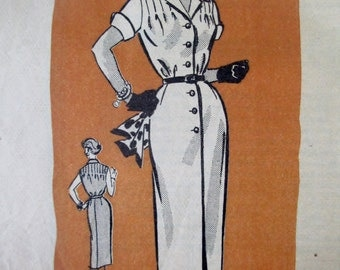 Anne Adams 4668 Women's 60s Shirt Waist Dress Sewing Pattern Bust 36