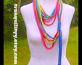 Gay Pride Scarf, Infinity Scarf , Rainbow Infinity T- Shirt Scarf Necklace, Up Cycle , 7 Vibrant Loops, Handmade By: Tranquilityy