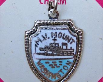 MV Mount Washington Sterling and Enamel Lakes Region NH Charm
