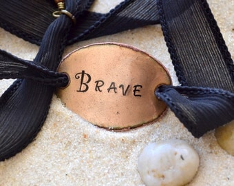 silk wrap bracelet- Brave- Boho Silk Wrap Bracelet- Ribbon Bracelet-indie- yoga- wrap- sailor studio
