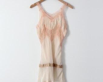 vintage 60s lingerie slip, pink nightie