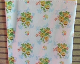 Vintage 70's Cottage Chic Floral Double Flat Sheet - Full Flat Sheet - 70's Bedsheet - Bedding - 70's Flat Sheet - Cottage - Bedroom - Sears