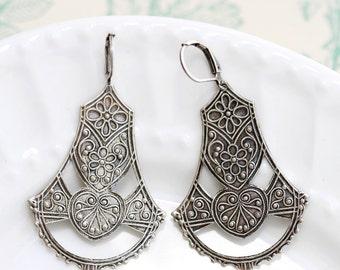 Silver Earrings,Earrings,Gypsy Girl,Boho Earring,Hoop Earring,Jewelry Gift, Silver Earrings,Wedding,Bridal, Bridesmaid