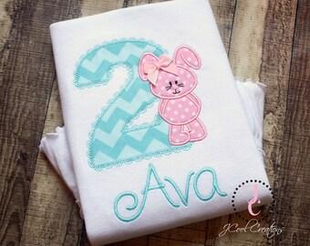 Girls Birthday Shirt - 1st Birthday, 2nd Birthday, 3rd Birthday, Girl Birthday Outfit, Birthday Dress, Bunny Birthday, Girls Birthday Party