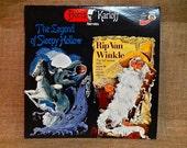 BORIS KARLOFF narrates - The Legend of Sleepy Hollow and Rip Van Winkle - 1977 Vintage Vinyl Record Album