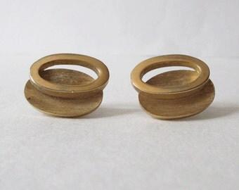 Trifari Gold Tone Clip-On Earrings Vintage Trifari Earrings