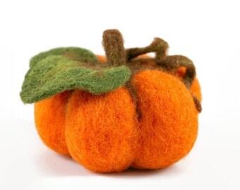 Felted Halloween Pumpkin, Thanksgiving Decor, Halloween Home Decor