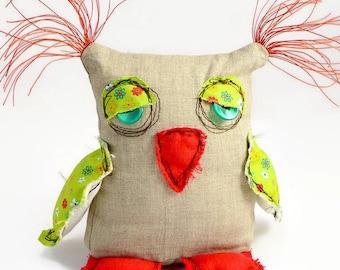 Personalized Owl - Stuffed Owl - School Gift - Owl Doll - Plush Owl - Home Warming Gift