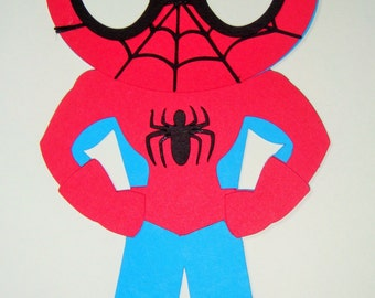 Super Hero Spiderman Paper Die Cut Paper Doll Scrapbook Embellishment