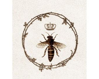 Queen Bee Card | Honeybee Greeting Card | Vintage Style