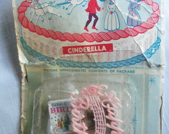 Vintage Cinderella Cake Decoration Topper Coach Prince Fairy Godmother