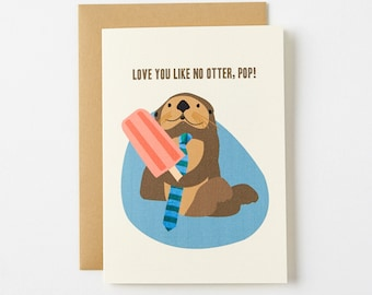 Otter Pop Father's Day Card