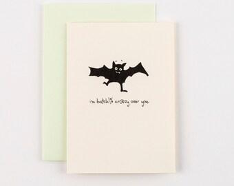 Bat Sh%t Crazy Halloween Greeting Card
