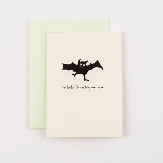 Bat Sh%t Crazy Halloween Greeting Card