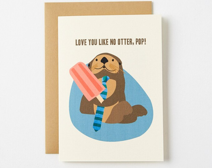 Featured listing image: Otter Pop Father's Day Card