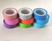 Polka Dot Washi Tape 10 yard Roll - Pick One Color