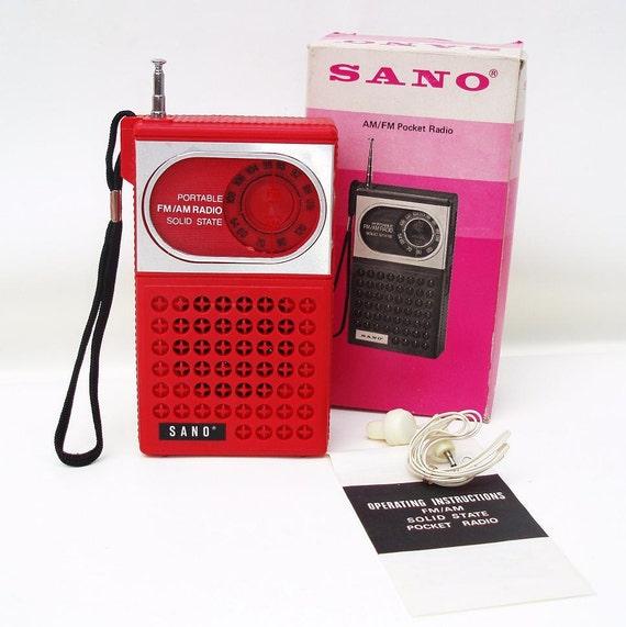 Radio 1970 1970s Transistor Radio Red