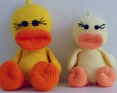 Amigurumi Crochet Pattern Duck PDF - Duck and Ducky amigurumi Toy crochet pattern - Instant DOWNLOAD