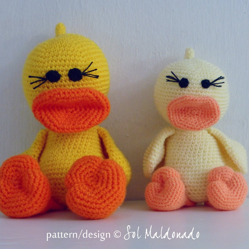Amigurumi Crochet Pattern Duck PDF Duck and Ducky by bySol