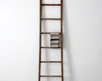 FREE SHIP  antique blanket ladder, picking ladder, wood ladder