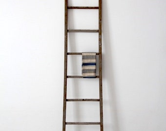 antique blanket ladder, picking ladder, wood ladder