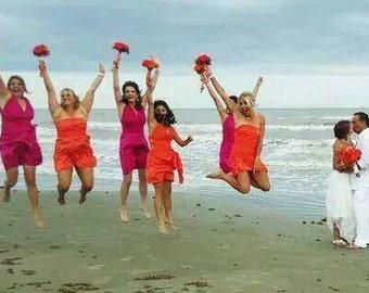 Mismatched Bridesmaids Dresses...  Infinity Convertible ...67 Colors... Bridesmaids, Wedding Party, Beach