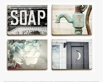 bathroom artwork. Wood Signs  Rustic Bathroom Wall Decor Farmhouse artwork Etsy