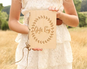 Gift Log Book Bridal Shower Gift Log Baby Shower Gift Log Rustic Gift Log Notebook Bridal Shower Gift Baby Shower Gift Rustic
