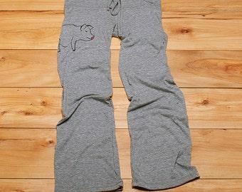 this little piggy went to Yoga, Pig, Yoga Pants, Lounge Pants, S,M,L,XL
