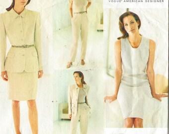 90s Calvin Klein Womens Jacket, Dress, Skirt & Pants Vogue Sewing Pattern 1635 Size 12 14 16 Bust 34 36 38 UnCut American Designer
