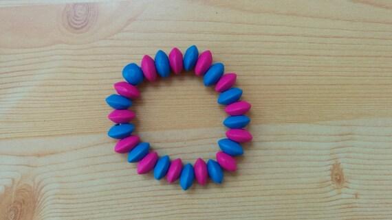 Rainbow bracelet, children bracelet, kids bracelet,colorful bracelet,wood bracelet,beaded bracelet,kids jewelry,girl jewelry,wooden bracelet