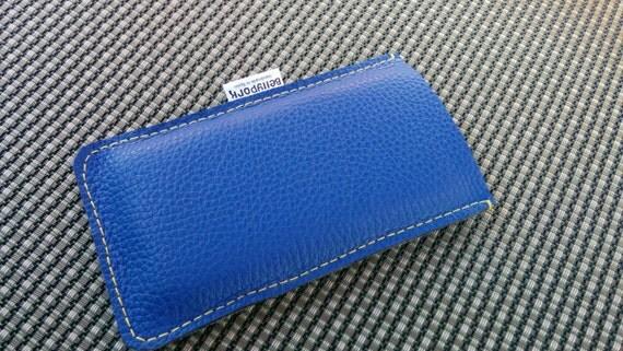 Iphone case, leather case, phone case, iPhone 6 case, smartphone case, blue leather case, mobile case, mobile leather case, iPhone cover