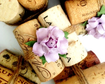 Vineyard Wedding Place Card Holder, Rustic Wedding Decor, Winery Wedding, Wine Cork Place Card Holder, Lavender Wedding, Name Card Holder