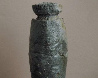 Natural Ash Glazed Vase, Vessel, Local Clay, Anagama Fired, Rustic, Wabi Sabi, #220