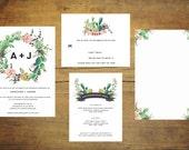 Succulent Wedding Invitation (Set of 25) | Wedding Invitation Set, Green Wedding, Wedding Suite