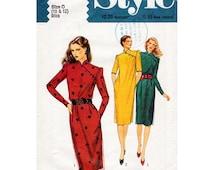 1980s Cheongsam Dress Pattern Style 2886 Vintage Sewing Pattern Asian Style Dress Bust 32.5