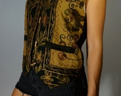 Embroidered Vest S M Boho Hippie Gypsy India Psychedelic Earth Elf Prankster Bohemian Hipster Club Kid Grunge Floral Festival Mod Tank Top