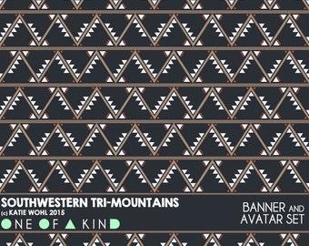 Southwestern Tri-Mountains - banner & shop icon set