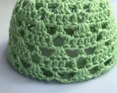 Mint Green Crocheted Baby Toque