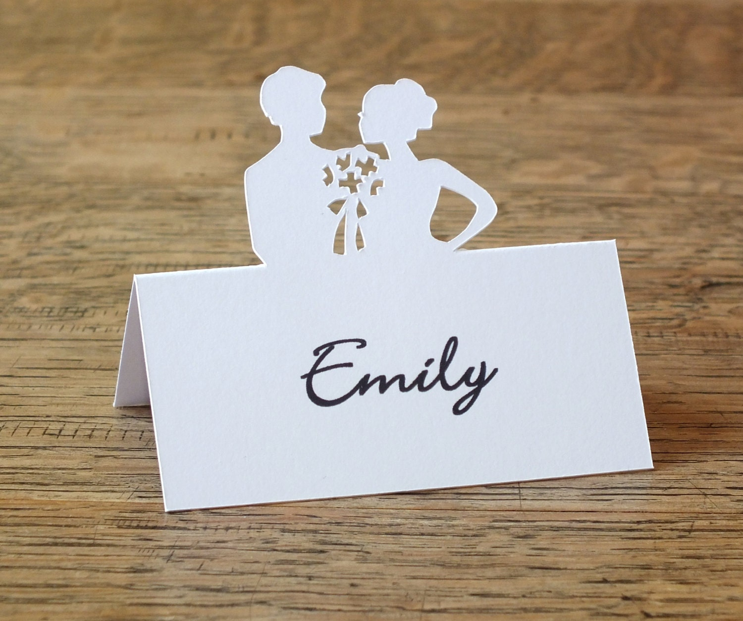 Personalised Silhouette Place Cards Personalized Cameo