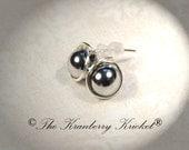 Magnetic Hematite Stud Earrings, Gemstone Healing Reiki Yoga Earrings, Healing Crystal earrings, Migraine Relief earrings