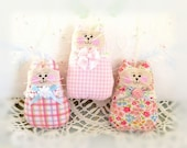 Cat Ornaments Set of  3, Pink and Blue, Spring Mothers Day Gift Ornies Bowl Fillers Party Favors Decorations Home Decor CharlotteStyle