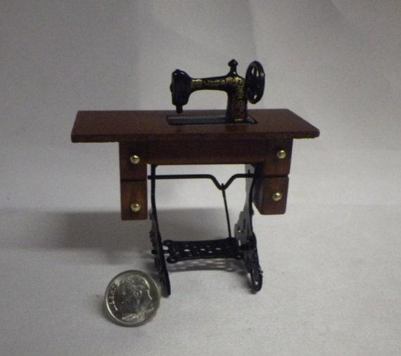 Fairy garden mini sewing machine table - Small sewing machine table ...