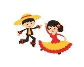Spanish dancer die cuts - (4 in.) - you choose your own colors (C86)