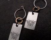 Mali Earrings ~ Small ~ Bee / Tree