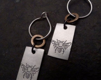 Mali Earrings ~ Small ~ Bee / Tree